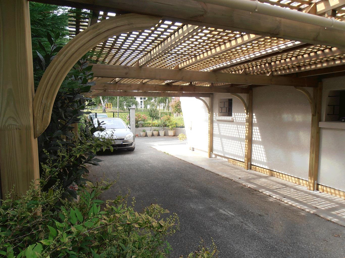 Les abris voiture protection voiture bois composite dauphiné environnement la murette pays voironnais