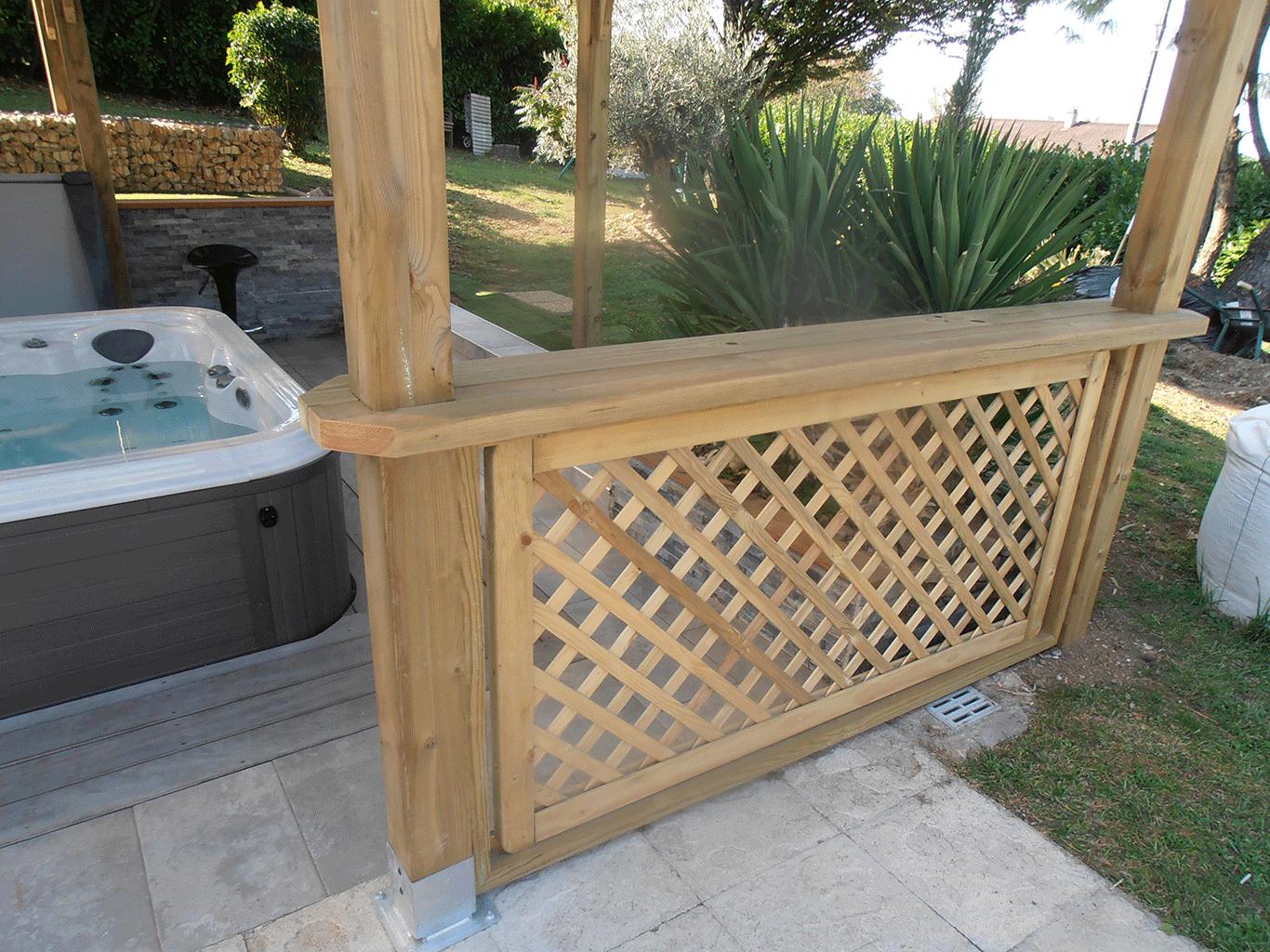 Clôture terrasse bois composite dauphiné environnement la murette pays voironnais